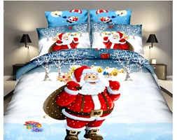 Mikołaj pościel świąteczna 160x200cm - 3 częściowa