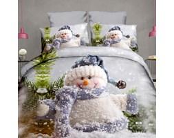 Pościel świąteczna Śnieżny bałwanek 160x200cm 3-częściowa