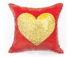 Poszewka HEART kolor biały-złoty/czerwony-zielony