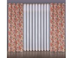 Zasłona gotowa wys. 240 x 135 cm TZ7030-009-MUL na taśmie