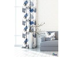 Florystyczna Zasłona PRADO A - NIEBIESKI wys. 150 cm