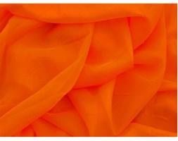 Woal Gładki pomarańczowy na Metry Firany Zasłony