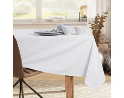 DecoKing - Obrus bawełniany Biały PURE - 160x350 cm