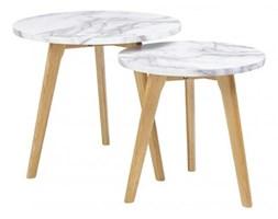 Zestaw stolików kawowych SLOW DUO MARBLE - MDF, nogi dębowe