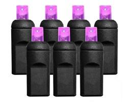 Lampki choinkowe 50 LED, wodoodporne IP67, różowe FLORIDA, model 5MM, kabel czarny