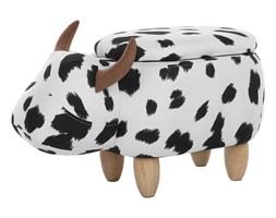 Pufa tapicerowana czarno-biała COW