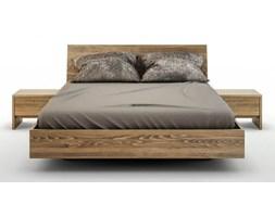 zestaw: WYSYŁKA 24H ! - Ballega łóżko bukowe lewitujące 140x200 cm, kolor orzech jasny plus dwie szafki