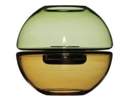 Sagaform - świecznik, mała kula żółto - zielona - Shine