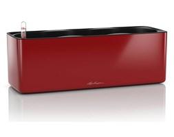 Lechuza - Donica Cube Glossy Triple - czerwona, połysk