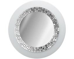 Duże okrągłe lustro GLAMOUR białe