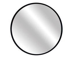 Lustro Scandi – okrągłe w czarnej ramie