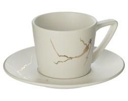 Filiżanka do herbaty ze spodkiem MARBLE, 200 ml, kolor biały