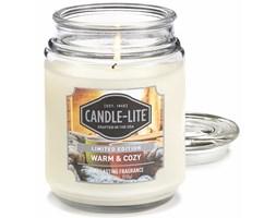 Świeca zapachowa Candle-lite duża w szkle 510 g - Warm & Cozy