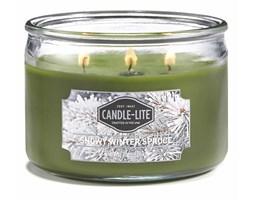Świeca zapachowa Candle-lite trzy knoty 283 g - Snowy Winter Spruce