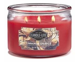 Świeca zapachowa Candle-lite trzy knoty 283 g - Cinnamon Sparkle