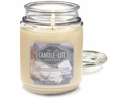 Świeca zapachowa Candle-lite duża w szkle 510 g - Smoked Marshmallow