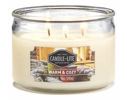 Świeca zapachowa Candle-lite trzy knoty 283 g - Warm & Cozy