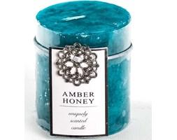 Rojek decor świeca zapachowa tradycyjna turkusowa 80/68 mm - Amber & Honey