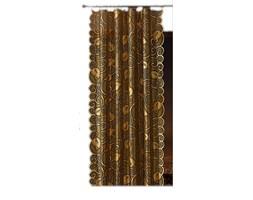 Zasłony żakardowe na metry złote liście szer. 145 cm