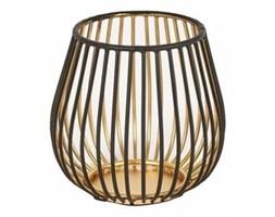 Lampion ażurowy czarno-złoty
