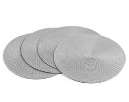 Jahu Podkładki na stół Deco okrągłe szary, śr. 35 cm, zestaw 4 szt.