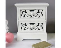 Komódka, seria ROMANTIC, ornamenty, biały mat.