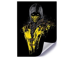 Plakat, Żółty wojownik ninja