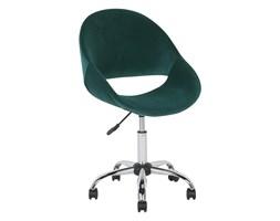 Krzesło biurowe welur szmaragdowe SELMA
