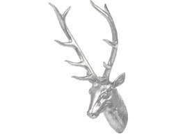 Figurka ścienna srebrna 67 cm DEER HEAD