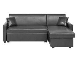 Sofa narożna rozkładana ze schowkiem lewostronna czarna OGNA