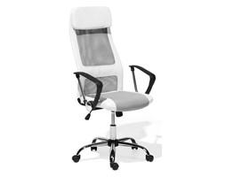 Krzesło biurowe biało-szare regulowana wysokość PIONEER