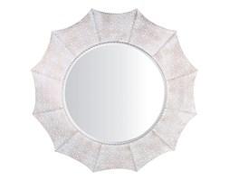 Lustro ścienne ø68 cm biało-miedziane MYSORE