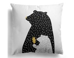 Poszewka Black & White Bear & Leaf 45x45 cm