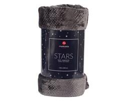 Koc / Narzuta STARS kolor grafitowy ze srebrnymi elementami STARS0/KOP/002/200220/1