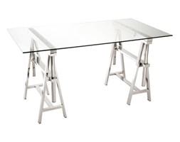 Biurko Adjustable, regulowana wysokość, szkło, metal, 78x150x80 cm (JL84842)
