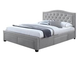 Łóżko tapicerowane Elvas z czterema szufladami