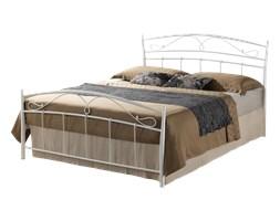 Łóżko metalowe Palawan 140x200 cm białe