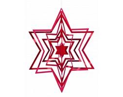 Philippi Christmas - Ozdoba choinkowa 3D - gwiazda - czerwona - P141004
