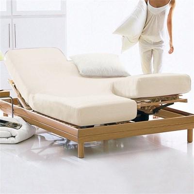 Prześcieradło z gumką, dżersej, 100% bawełny organicznej, na podnoszone łóżko