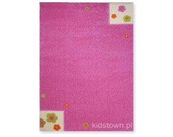 ŁĄKA - różowy dywan 3D - przestrzenny