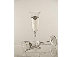 Kieliszki do szampana kryształowe z serduszkami - 2568 -