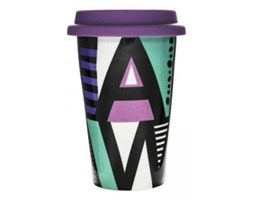 Kubek termiczny z przykrywką - Sagaform - Cafe - mix kolorów 1