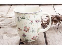 Kubek do herbaty DUO KWIATY LEŚNE 550 ml -- kremowy - rabat 10 zł na pierwsze zakupy!