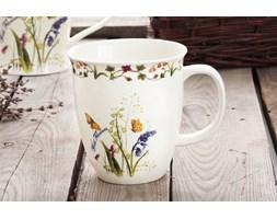 Kubek do herbaty DUO KWIAT POLNY 550 ml -- kremowy - rabat 10 zł na pierwsze zakupy!