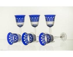 Kieliszki do wina malowane kobalt 6 sztuk - 9967