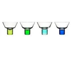 Zestaw kieliszków do martini - Sagaform - Club - niebiesko-zielone