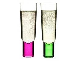 Kieliszki do szampana - Sagaform - Club - zielony-różowy