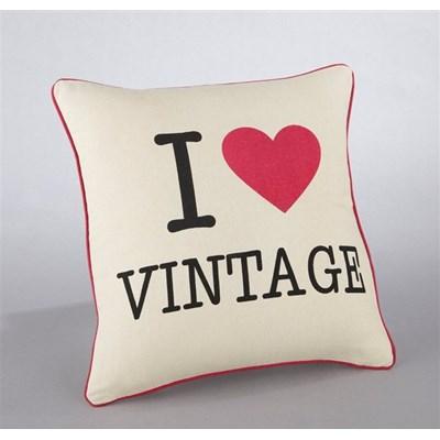 """Poszewka na poduszkę z bawełny, z nadrukiem """"I love vintage"""", Forio"""