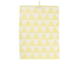 Ręcznik kuchenny, żółte trójkąty