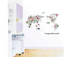 Naklejki -Mapa świata z flagami (DP-08168)